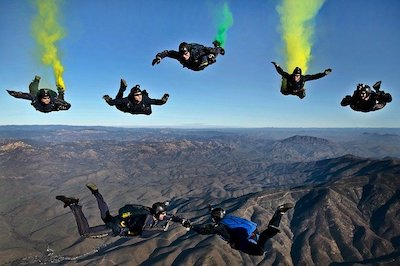 doing skydiving
